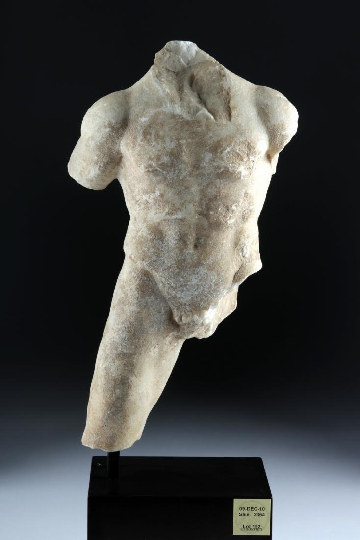Roman Marble Torso of Man, ex-Christie's