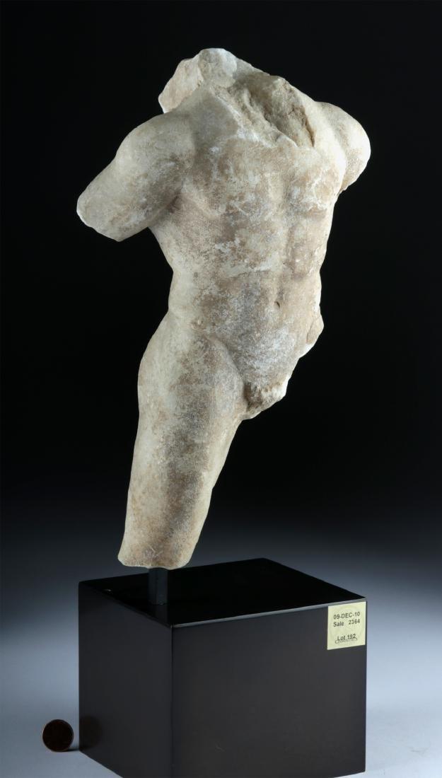 Roman Marble Torso of Man, ex-Christie's - 5