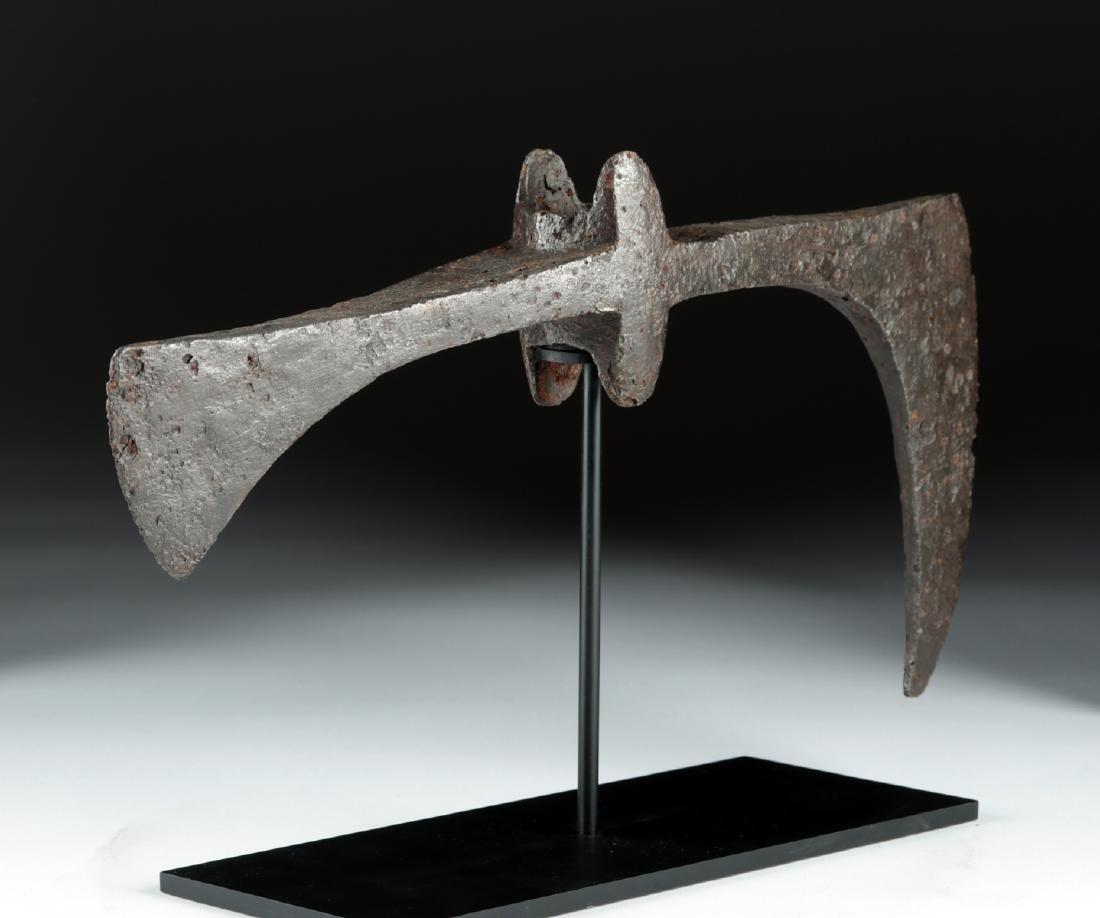 Huge 7th C. Viking / Anglo-Saxon Iron Broad-Axe Head - 3