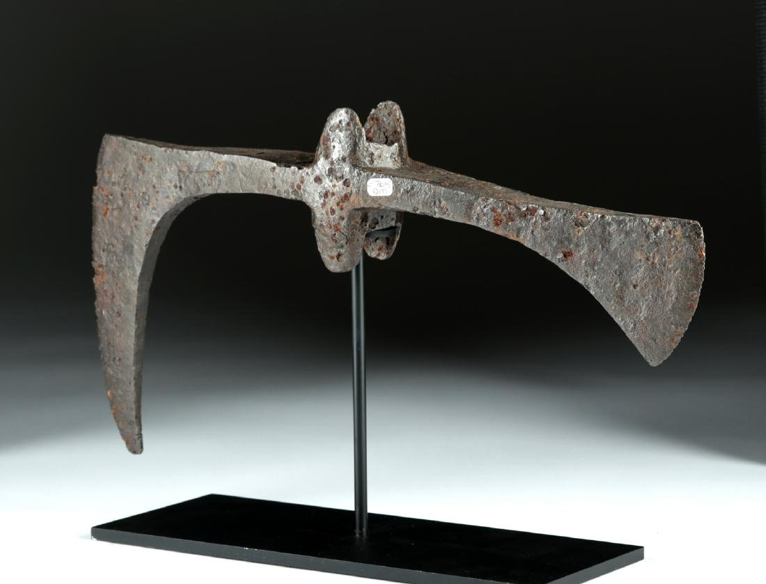 Huge 7th C. Viking / Anglo-Saxon Iron Broad-Axe Head - 4