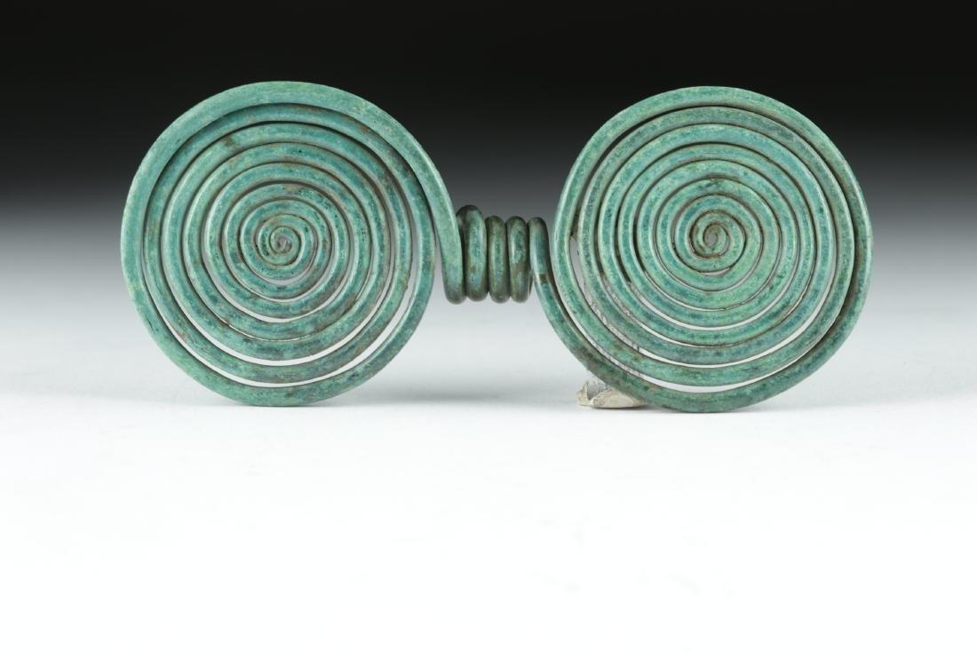 Ancient Hallstatt Bronze Spiral Hair Ring
