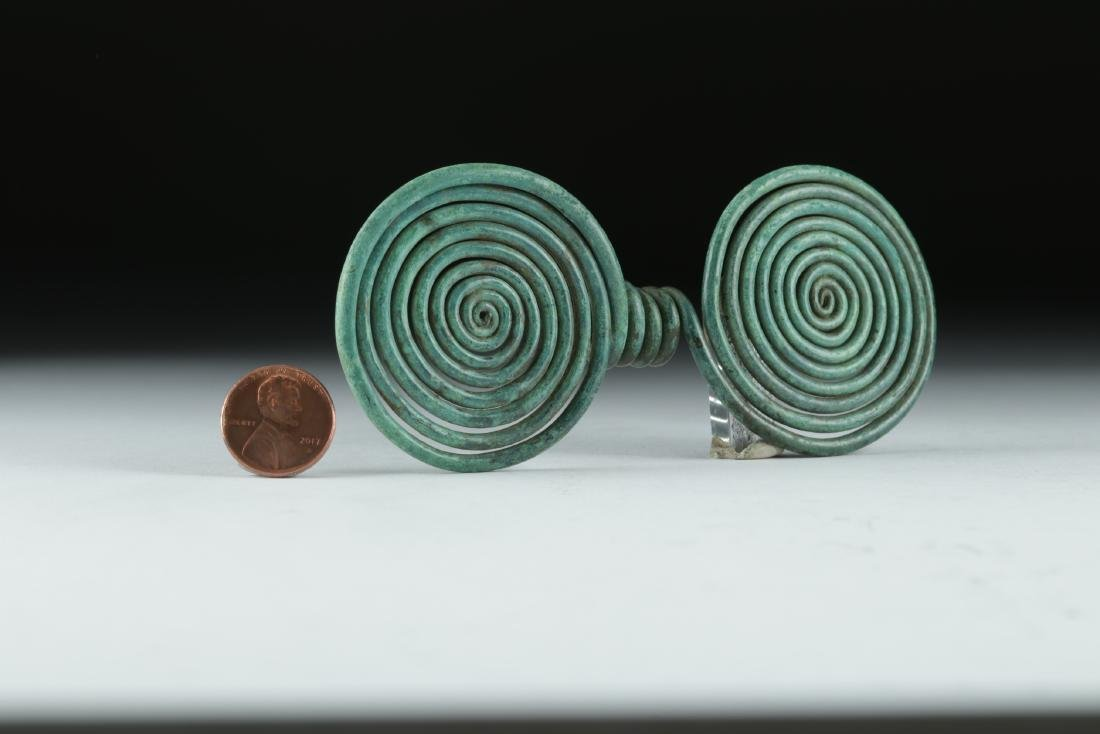 Ancient Hallstatt Bronze Spiral Hair Ring - 3