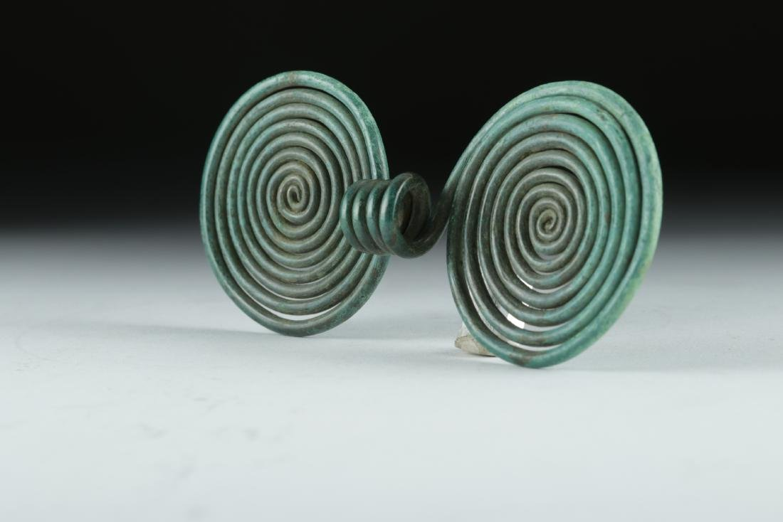 Ancient Hallstatt Bronze Spiral Hair Ring - 4