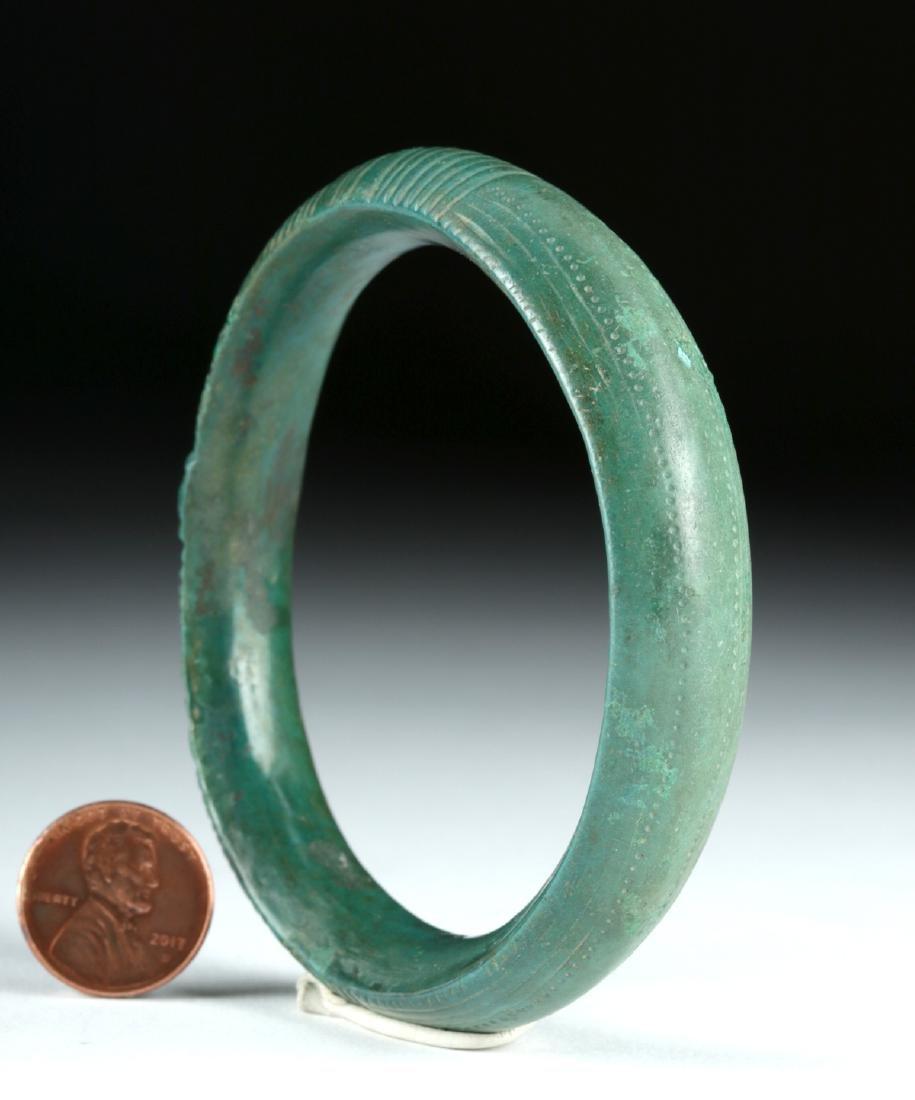 Hallstatt Bronze Bracelet / Armband - Stunning Patina - 2