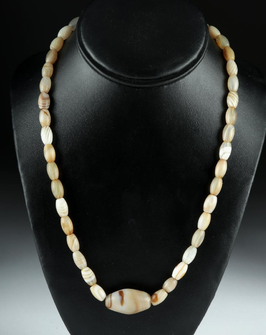 Necklace w/ Ancient Persian Banded Agate Beads