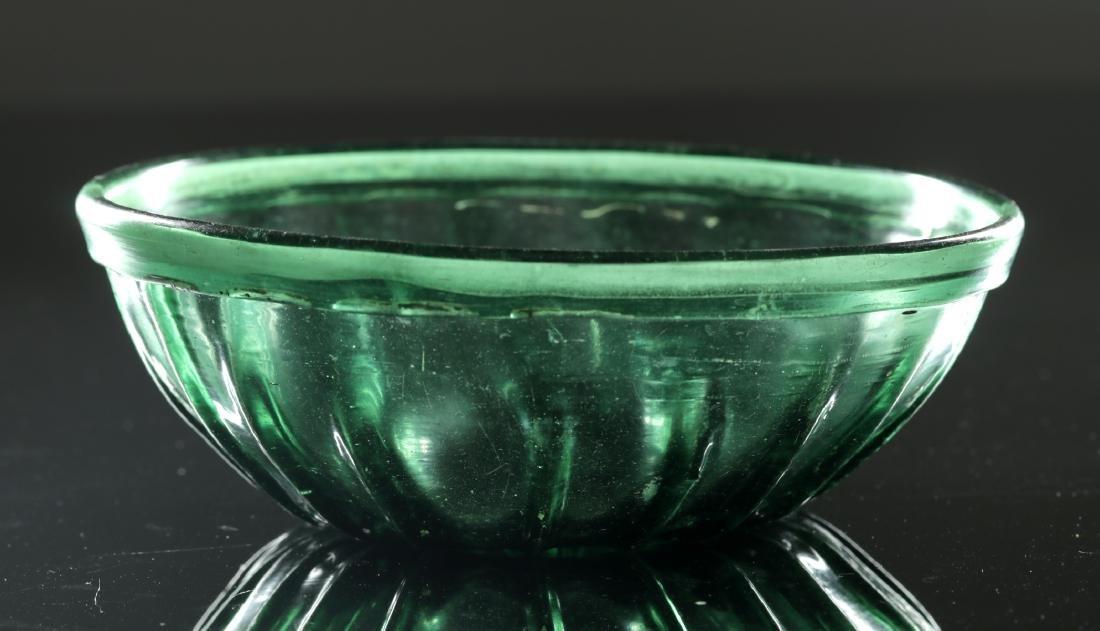 7th C. Islamic Glass Bowl - Gorgeous Green