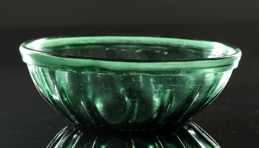 7th C. Islamic Glass Bowl - Gorgeous Green - 2