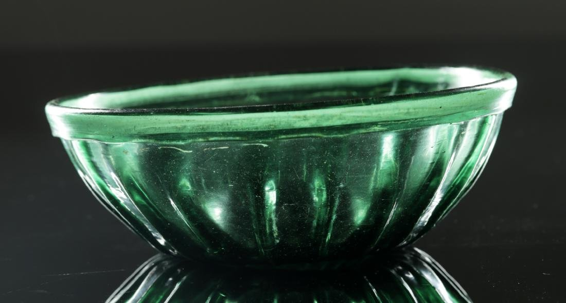 7th C. Islamic Glass Bowl - Gorgeous Green - 5