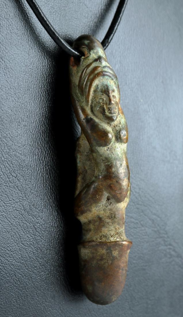12th C. Vietnamese Bronze Phallic Amulet