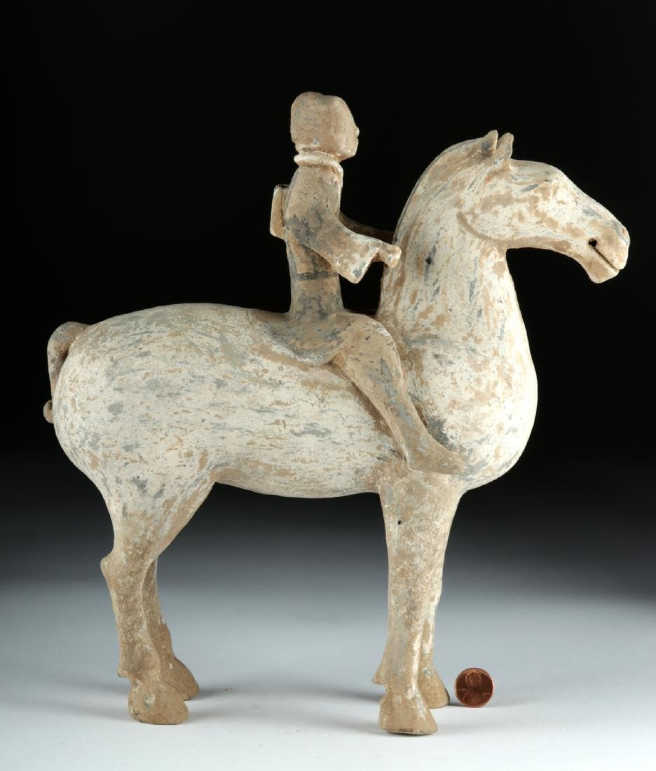 Chinese Han Dynasty Pottery Horse and Rider - 2