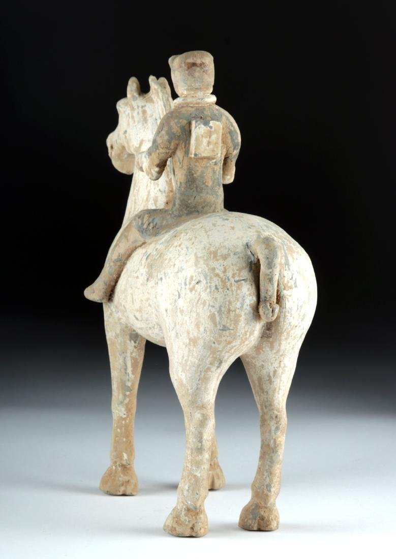 Chinese Han Dynasty Pottery Horse and Rider - 3