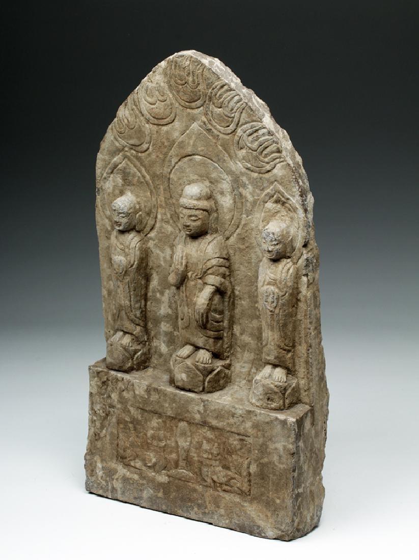 Chinese Ming Dynasty Stone Panel w/ Buddha - 2