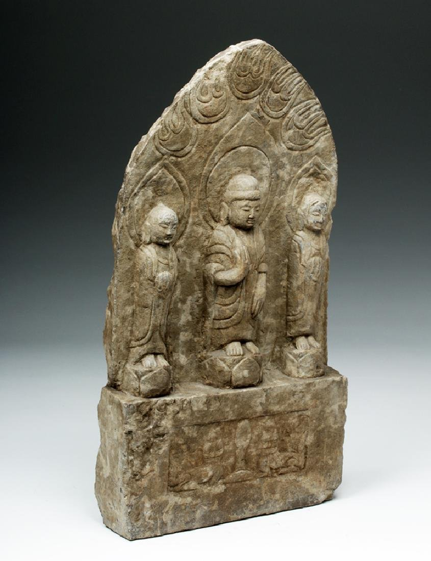 Chinese Ming Dynasty Stone Panel w/ Buddha - 5