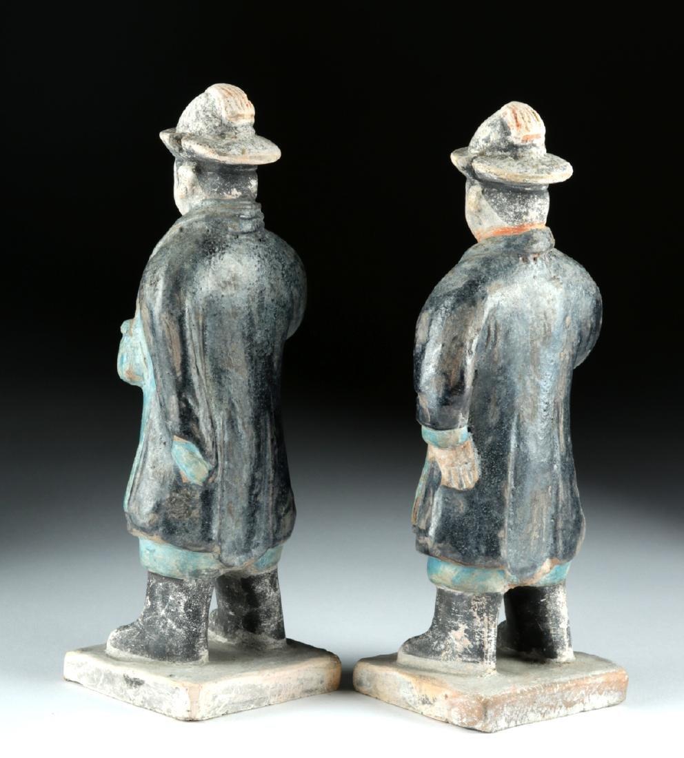 Chinese Ming Dynasty Glazed Pottery Attendants (2) - 3
