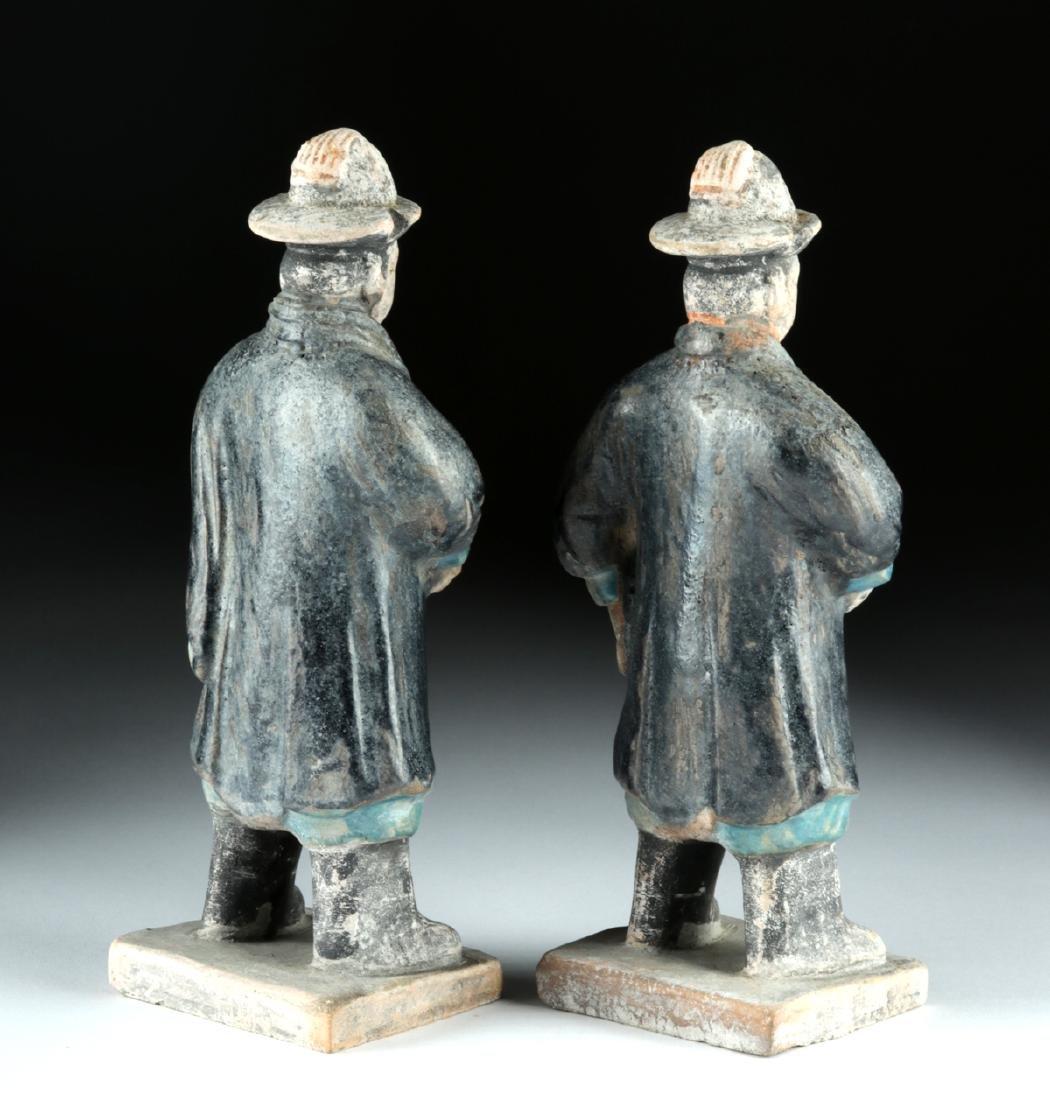 Chinese Ming Dynasty Glazed Pottery Attendants (2) - 4