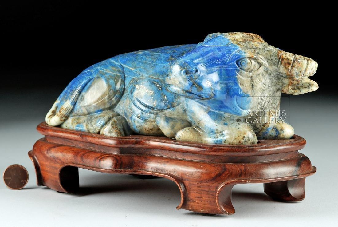 Chinese Qing Dynasty Lapis Lazuli Bull