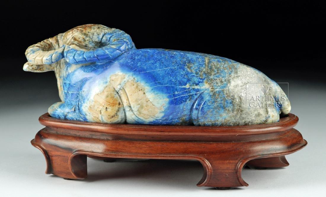 Chinese Qing Dynasty Lapis Lazuli Bull - 4