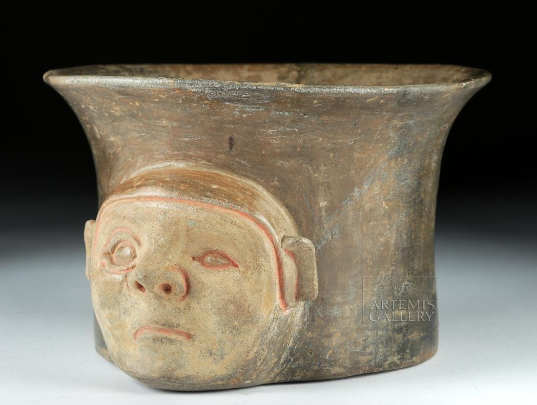 Rare Chavin Pottery Olla - Shaman Face