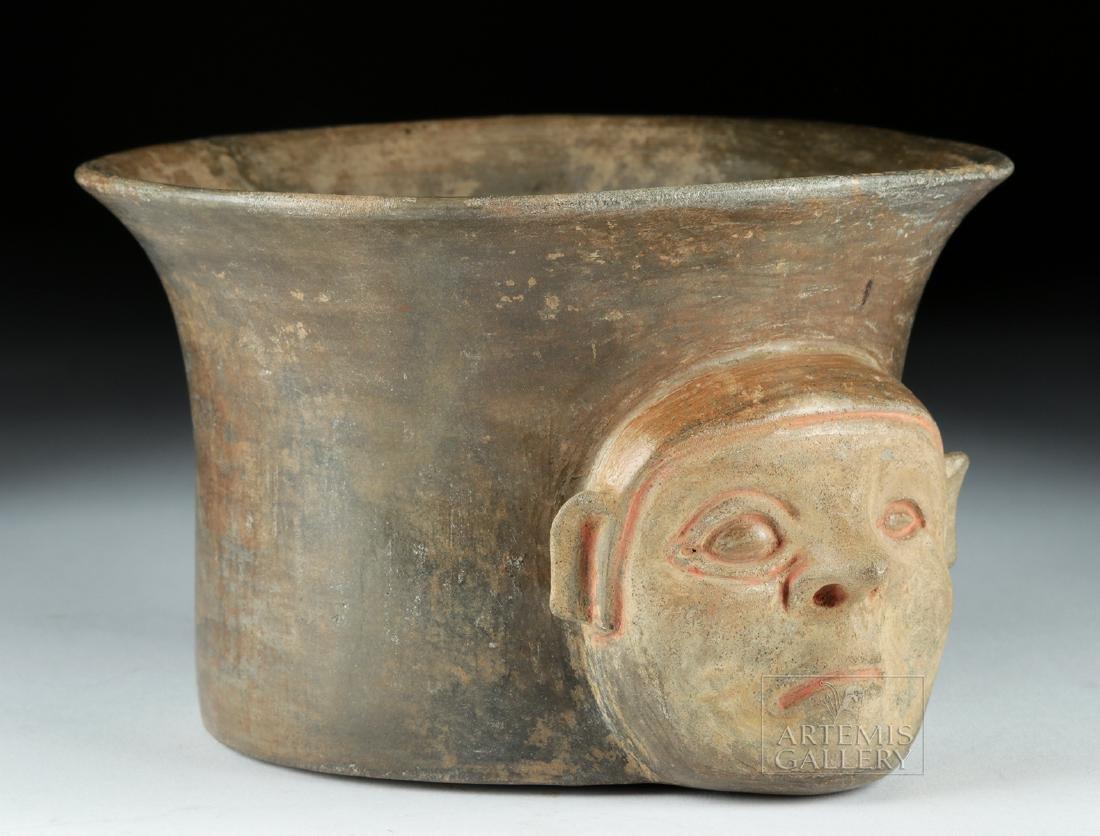 Rare Chavin Pottery Olla - Shaman Face - 2