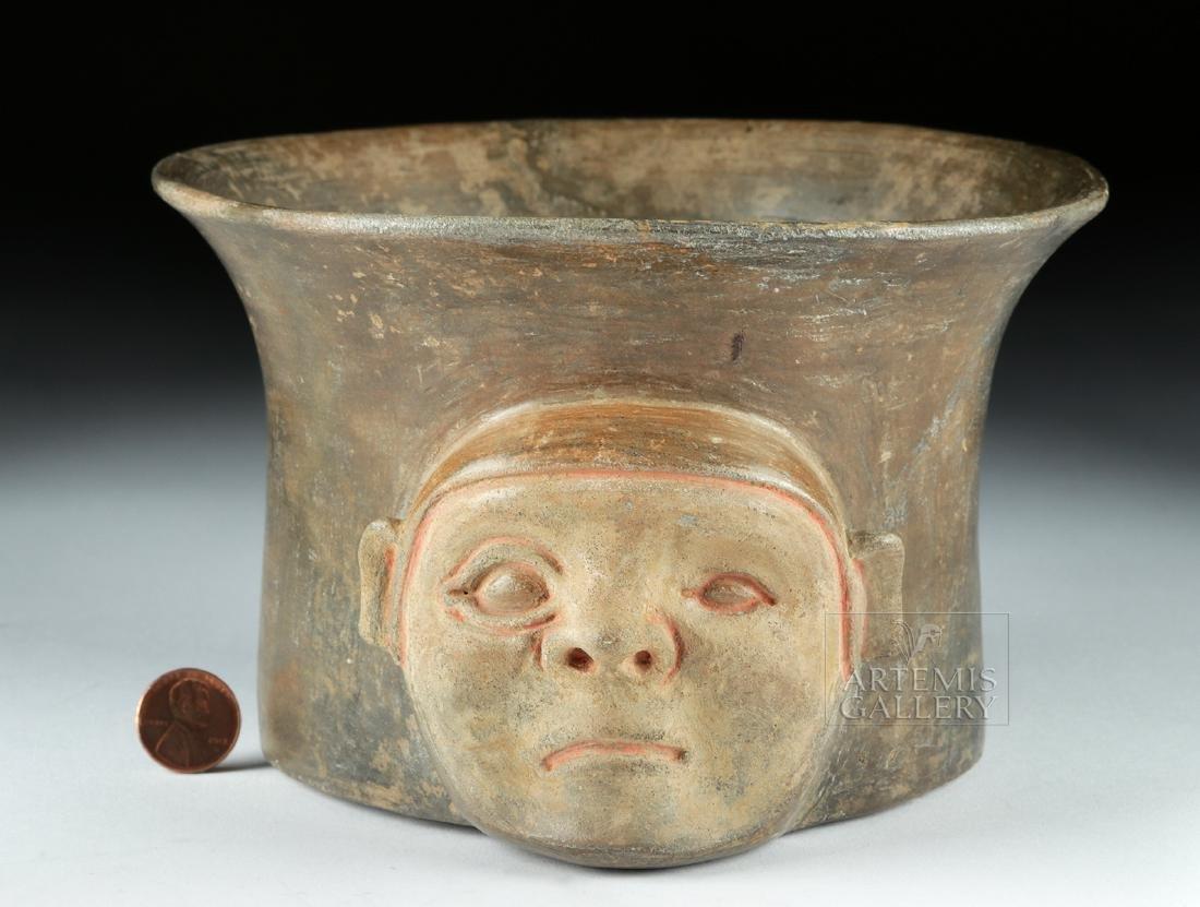 Rare Chavin Pottery Olla - Shaman Face - 3