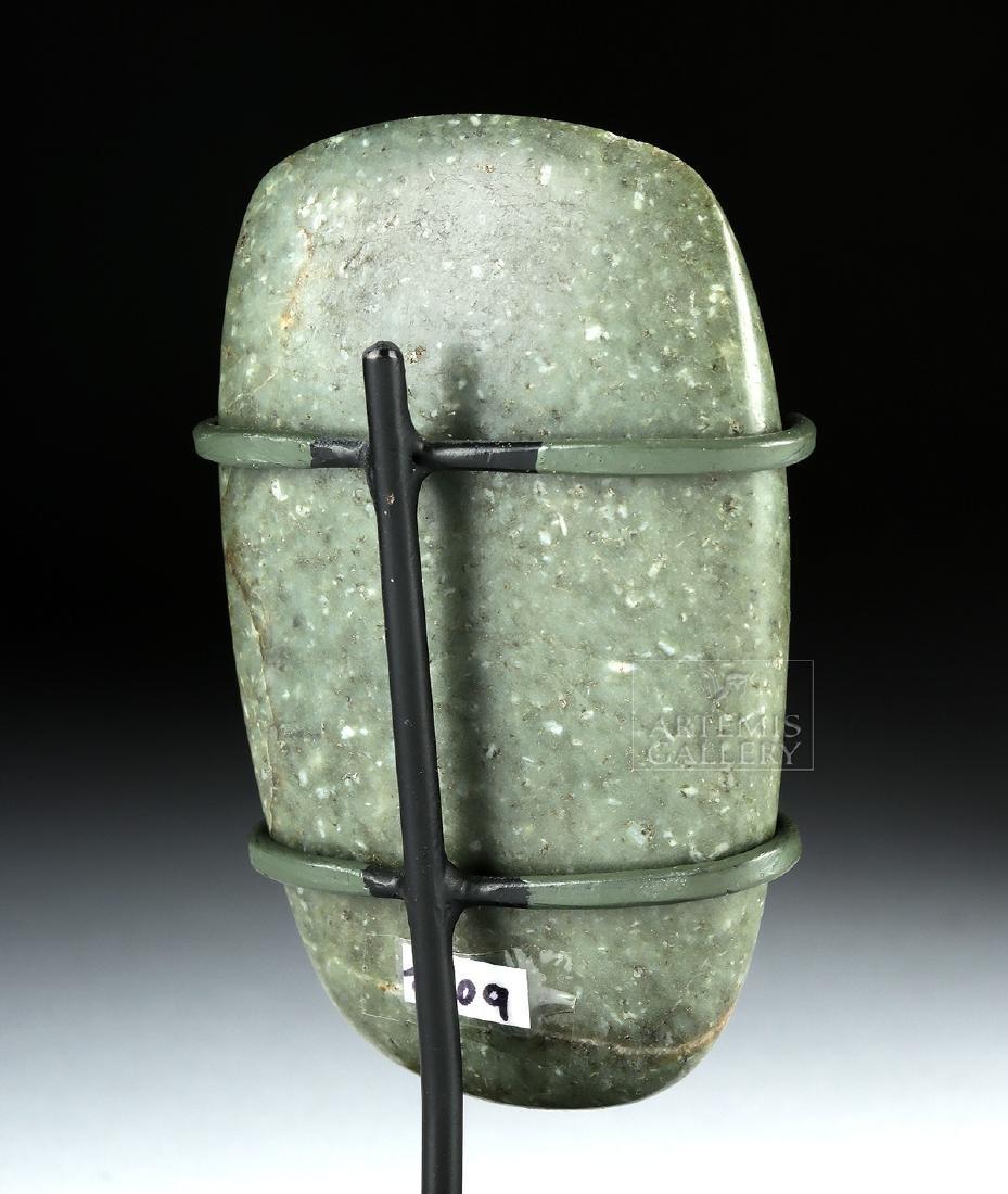 Fine Olmec Greenstone Celt, ex-Butterfield's - 4