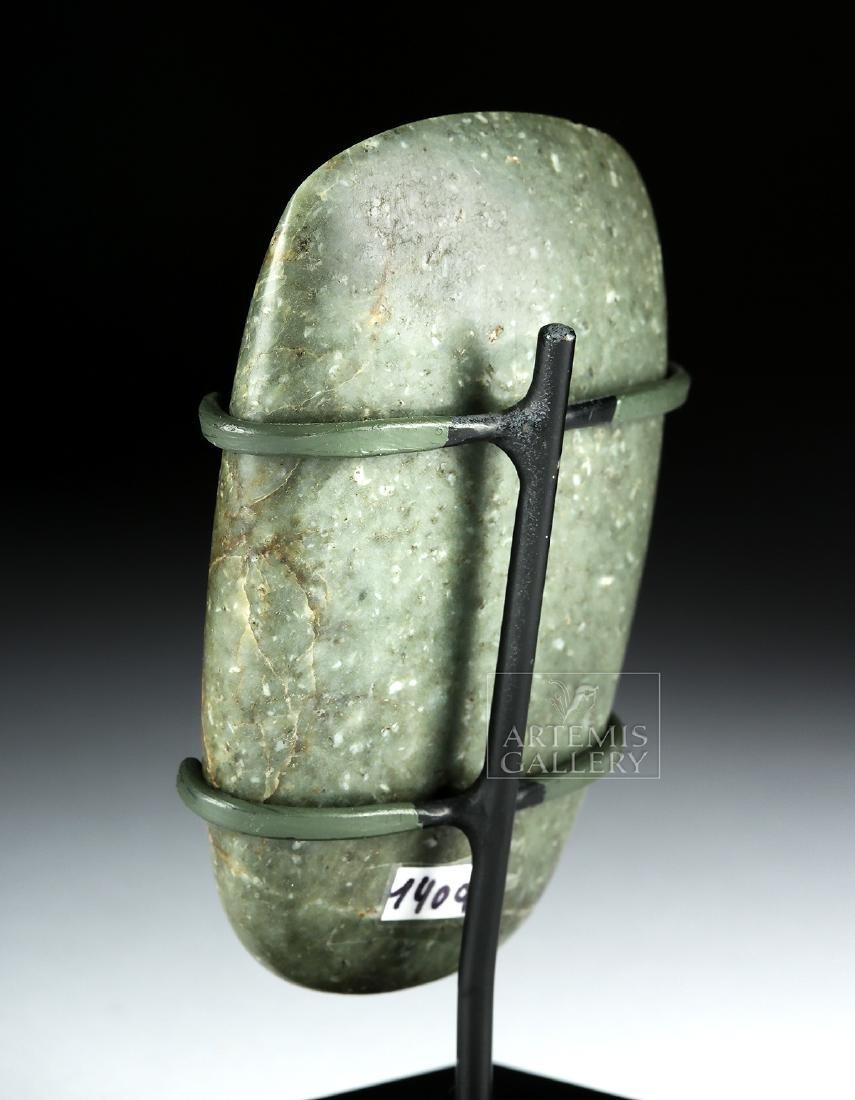 Fine Olmec Greenstone Celt, ex-Butterfield's - 5