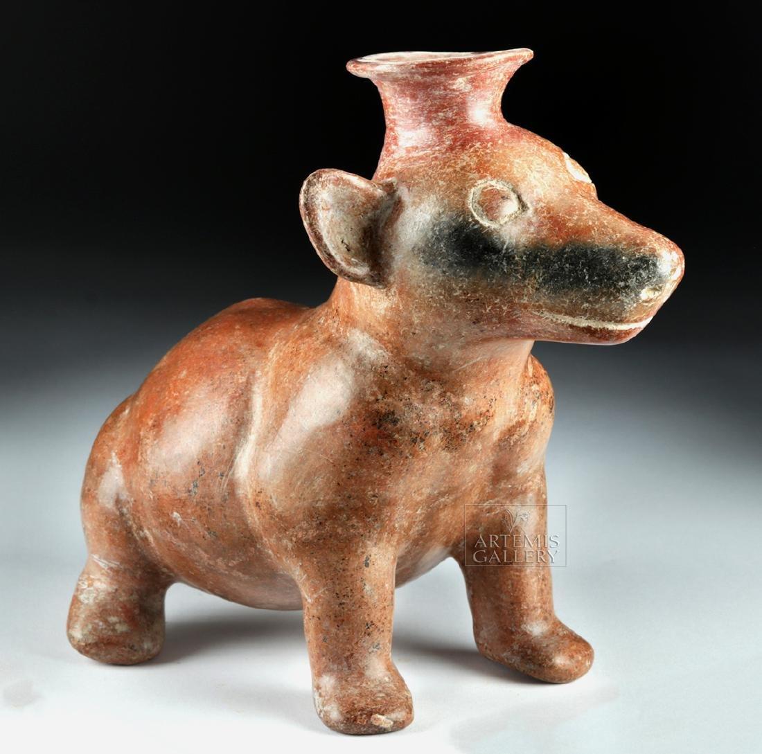 Colima Redware Effigy Vessel - Seated Dog