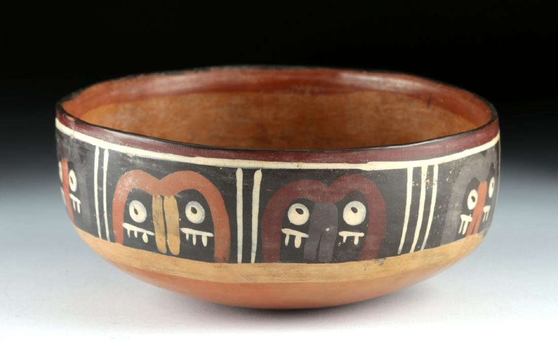 Nazca Polychrome Bowl - Abstract Trophy Heads