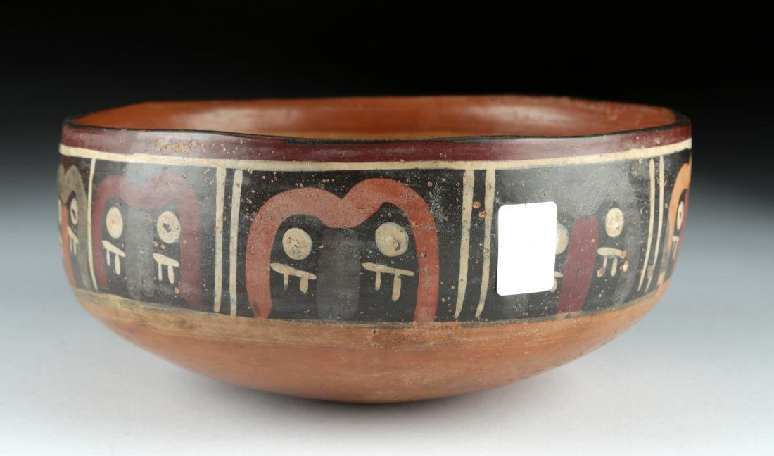 Nazca Polychrome Bowl - Abstract Trophy Heads - 3