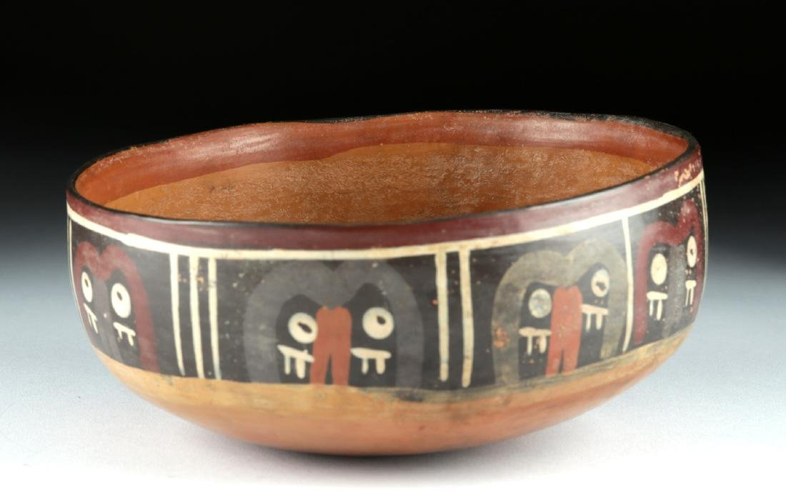 Nazca Polychrome Bowl - Abstract Trophy Heads - 4