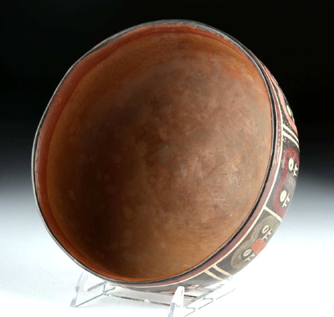 Nazca Polychrome Bowl - Abstract Trophy Heads - 5