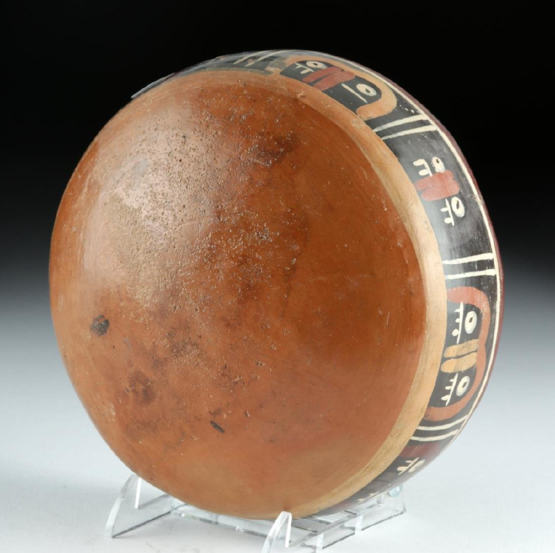 Nazca Polychrome Bowl - Abstract Trophy Heads - 6