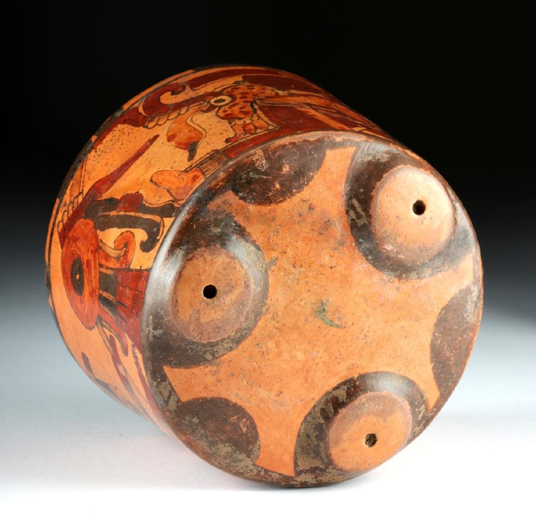 Mayan Ulua Valley Polychrome Tripod Vessel - 6