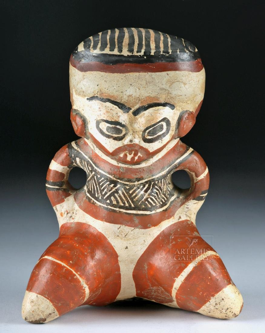 Costa Rican Polychrome Figure - Seated Effigy - 2