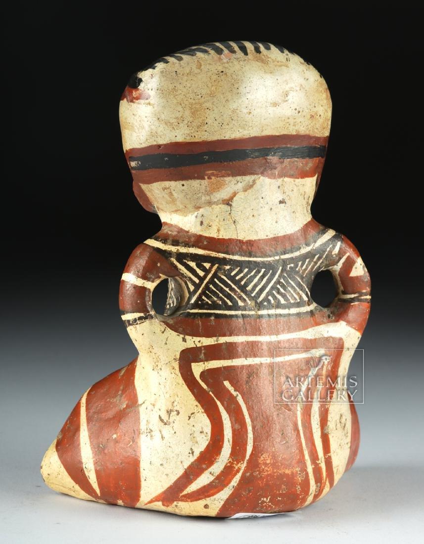 Costa Rican Polychrome Figure - Seated Effigy - 4