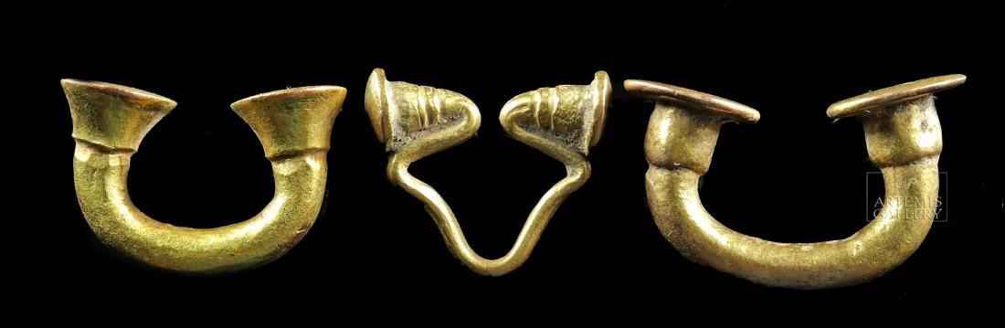 Lot of 3 Sinu 14K / 16K Gold Nose Rings - 23 grams