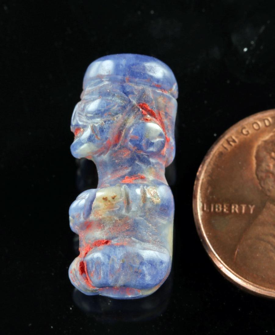 Incan Sodalite Figural Bead w/ Cinnabar - 3