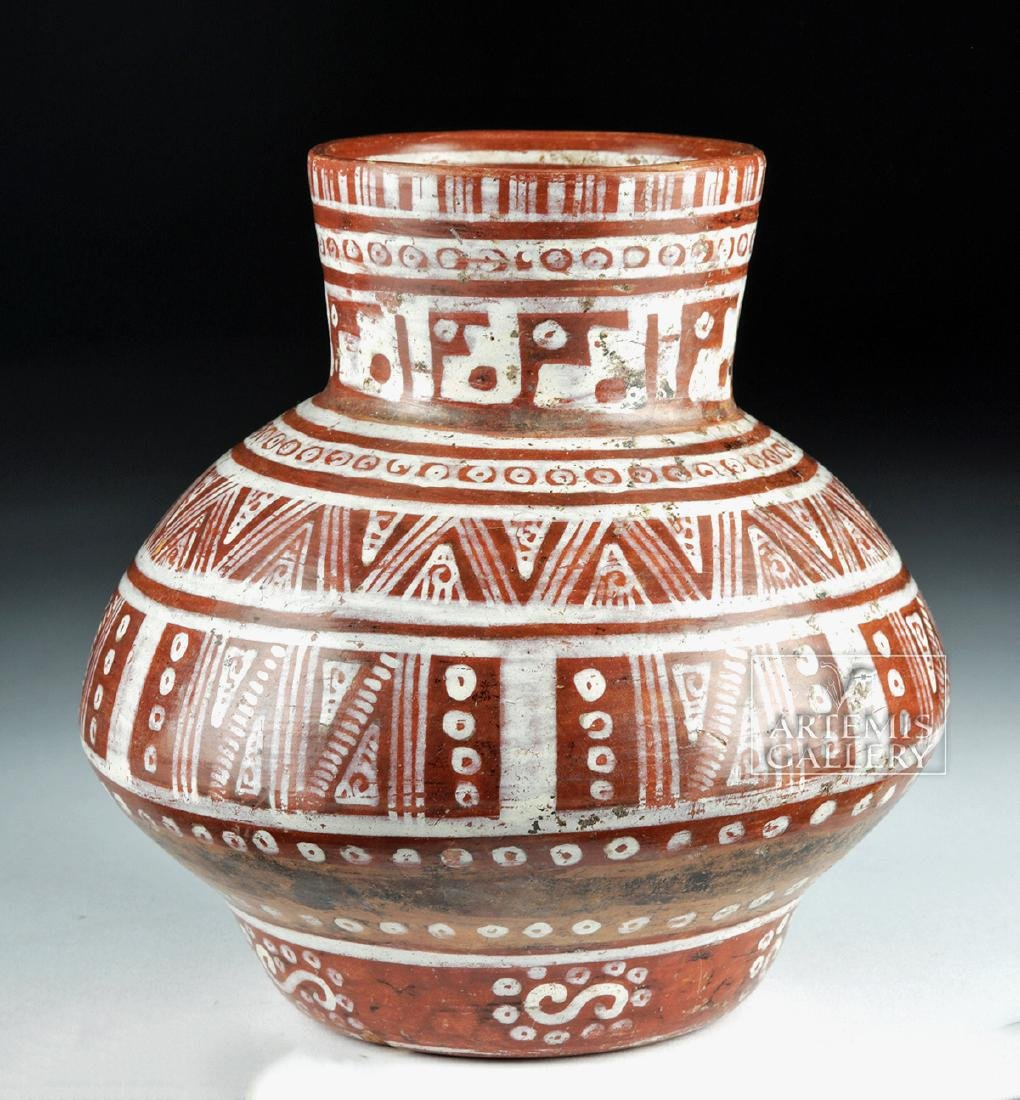 Beautiful Michoacan Pottery Olla - Geometric Motifs