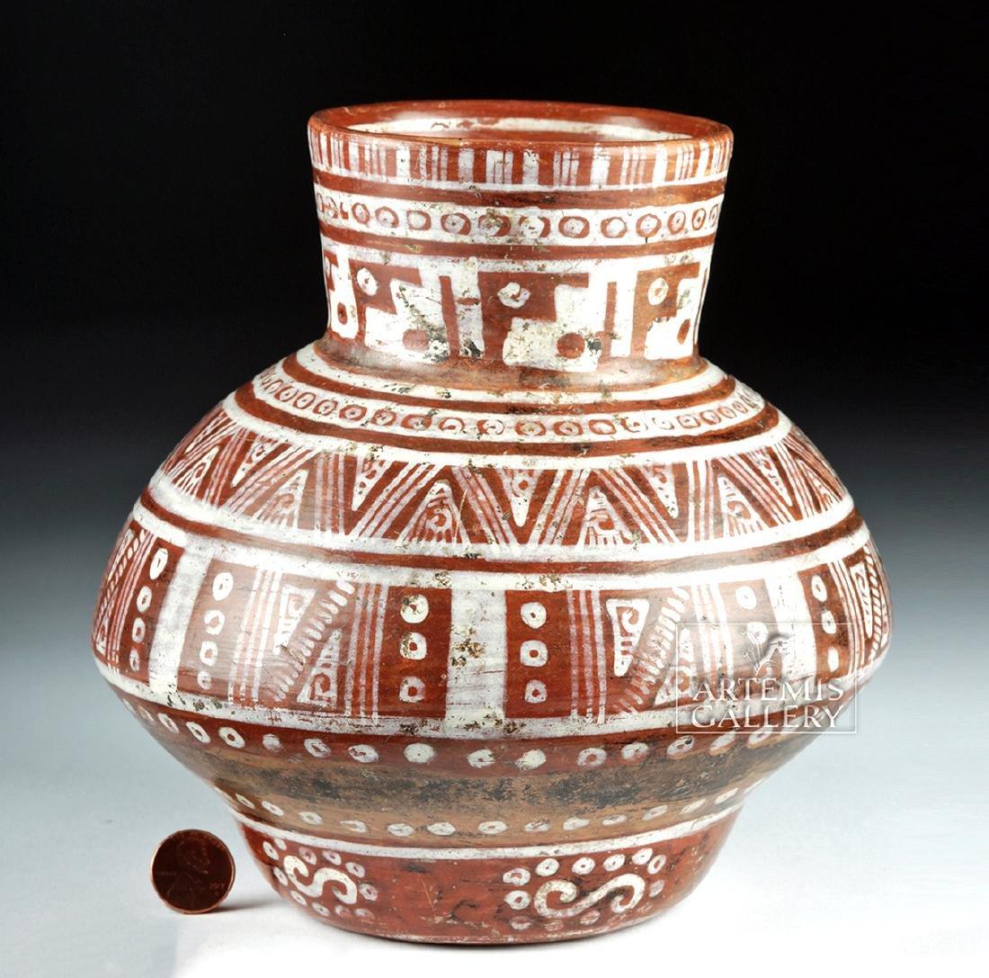 Beautiful Michoacan Pottery Olla - Geometric Motifs - 2