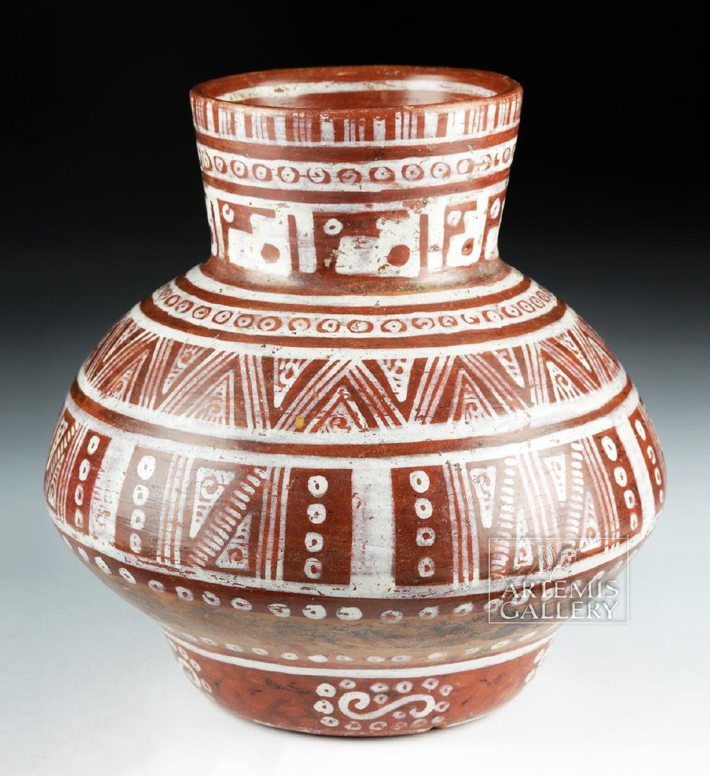 Beautiful Michoacan Pottery Olla - Geometric Motifs - 3