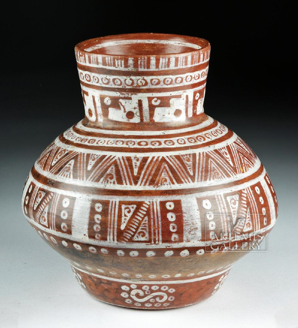Beautiful Michoacan Pottery Olla - Geometric Motifs - 4