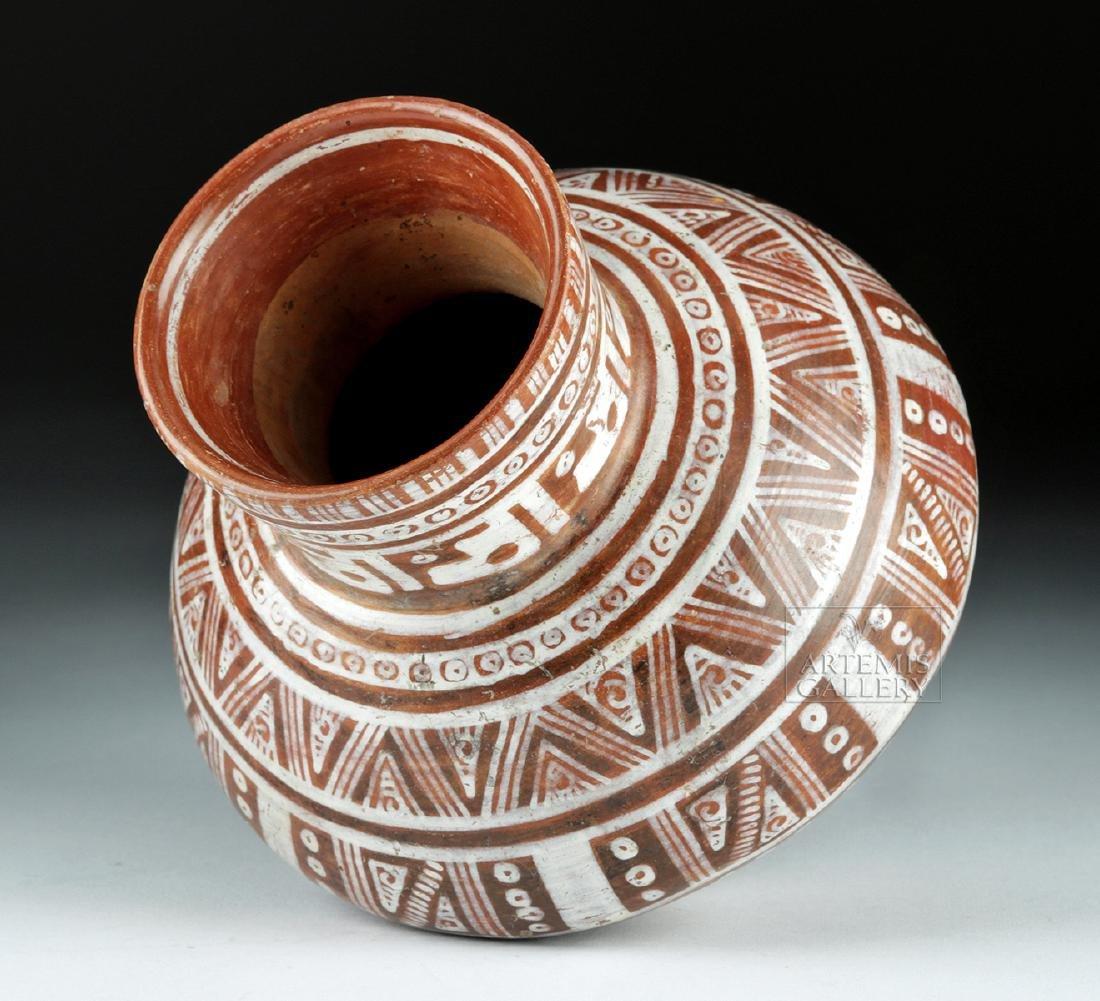 Beautiful Michoacan Pottery Olla - Geometric Motifs - 5
