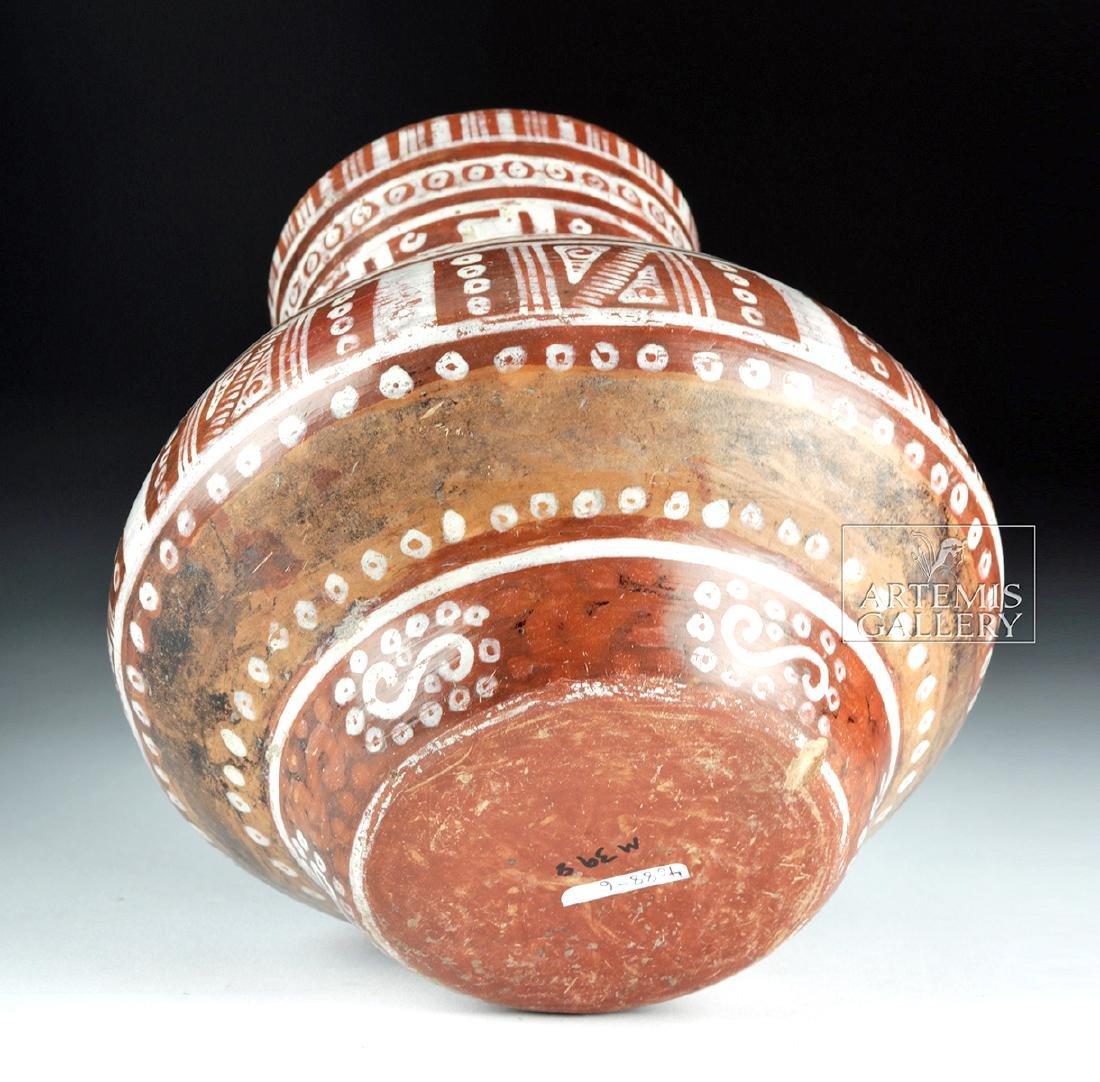 Beautiful Michoacan Pottery Olla - Geometric Motifs - 6