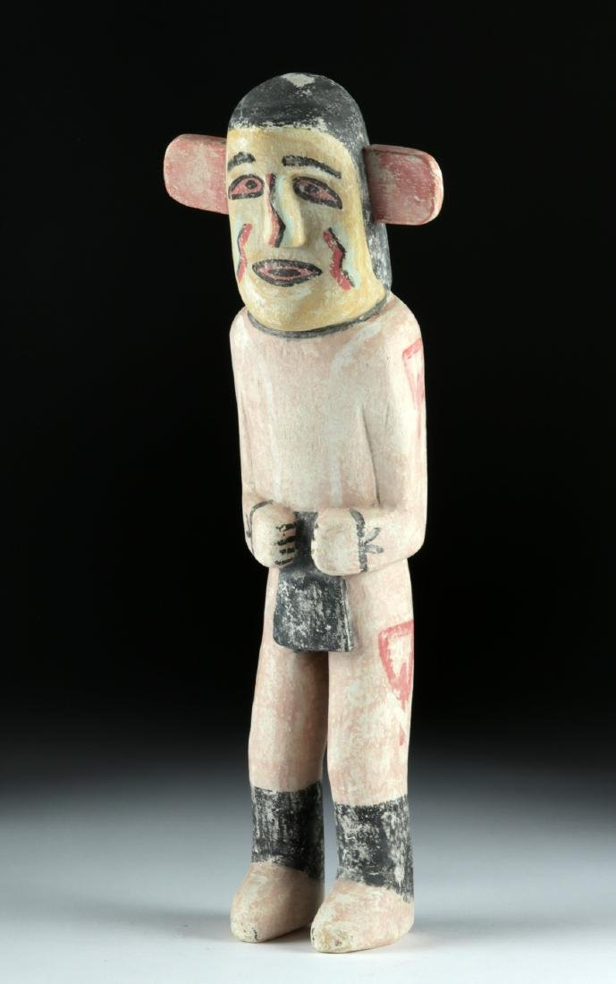 20th C. Hopi Polychrome Wood Kachina by Walter Howato