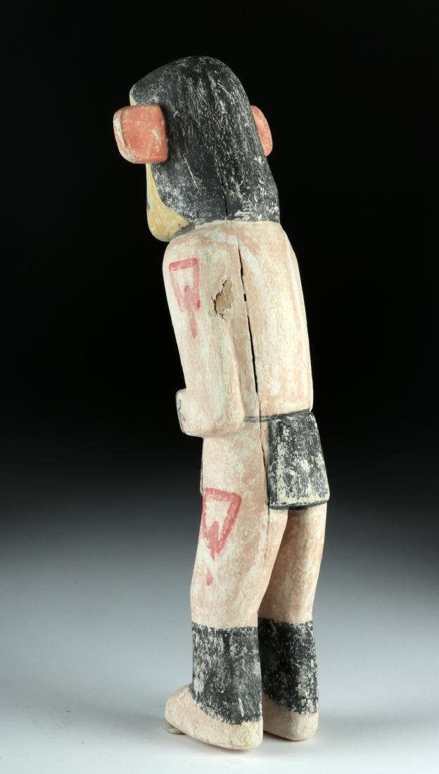 20th C. Hopi Polychrome Wood Kachina by Walter Howato - 4