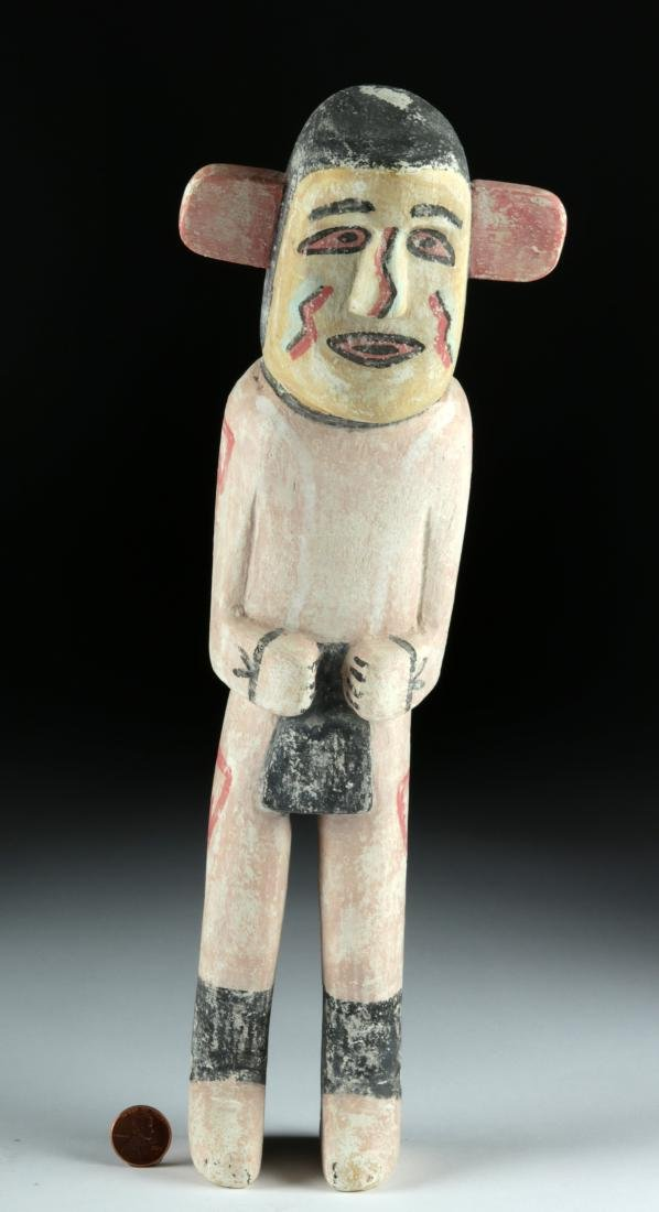 20th C. Hopi Polychrome Wood Kachina by Walter Howato - 5