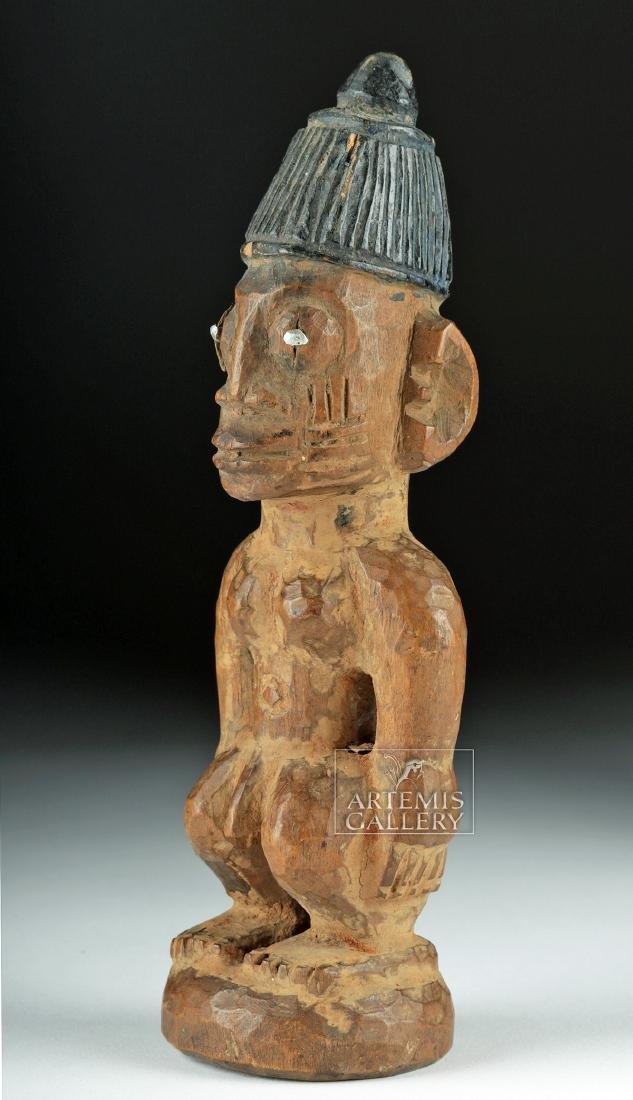 Early 20th C. African Wood Yoruba Ibeji Figure - Male - 3