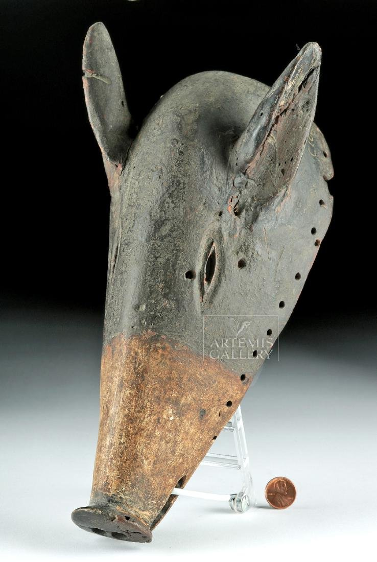 20th C. African Chokwe Dance Mask - Long-Nose Pig