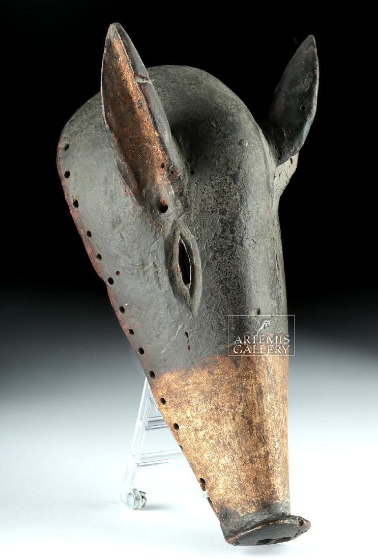 20th C. African Chokwe Dance Mask - Long-Nose Pig - 3