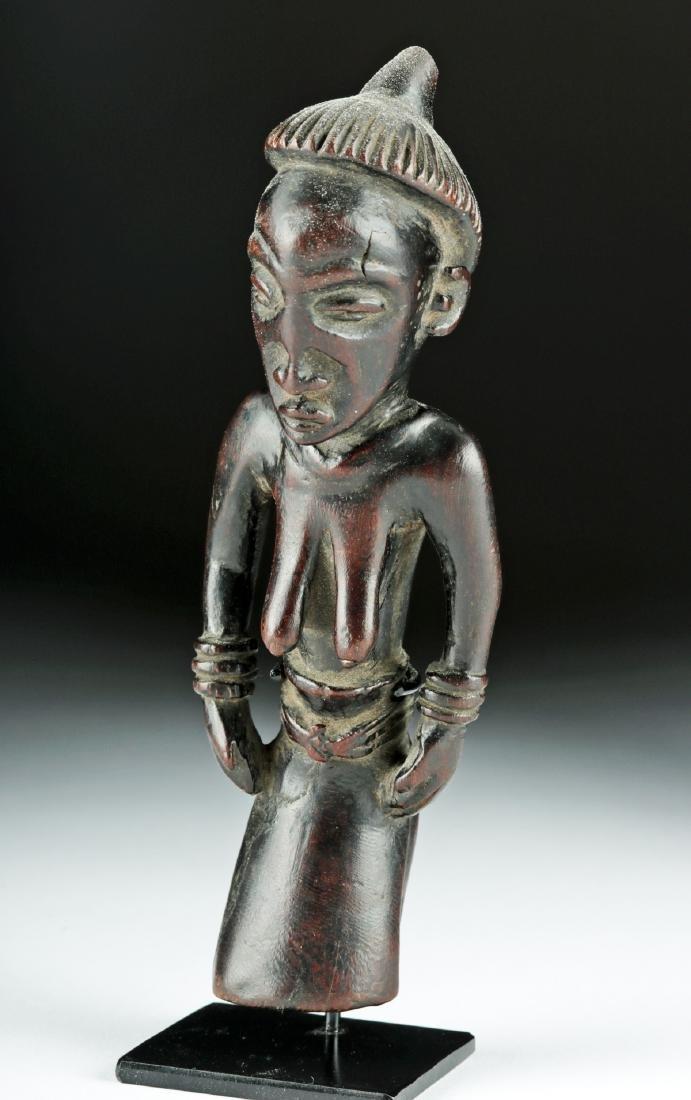Early 20th C. African Pende Wood Figure - Elder Female